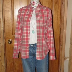 GAP Classic Fit Plaid Button-Up Shirt Sz: XS